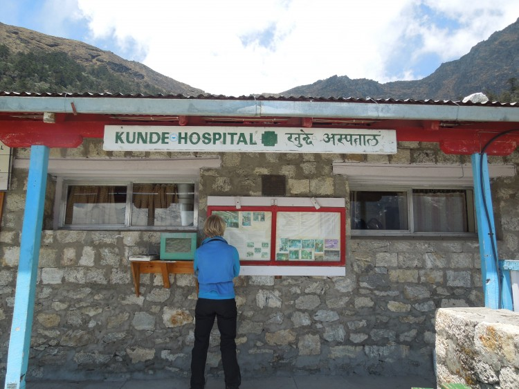 A view of the Kunde Hospital in Nepal.