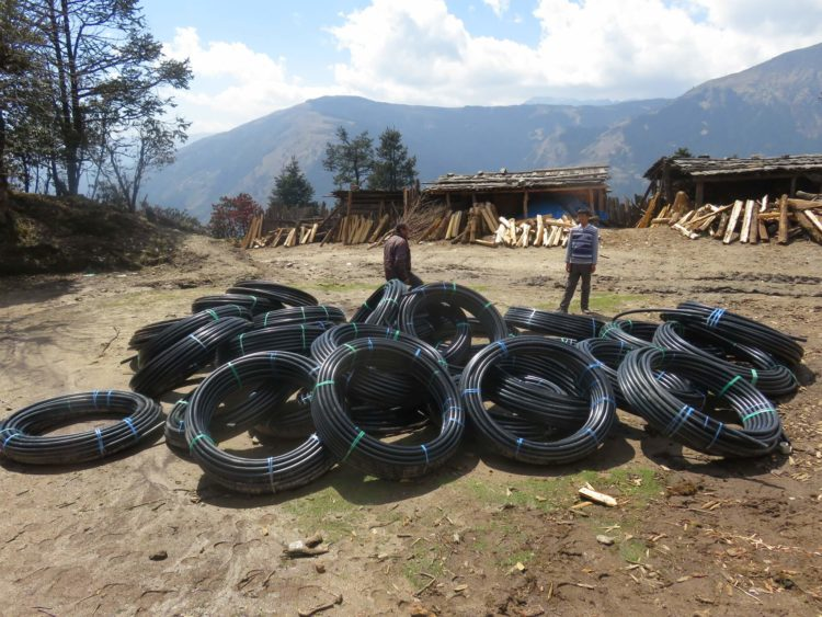 40mm water pipe for the Taksindu Drinking Water Project 2017 sponsored by Tara Foundation USA.
